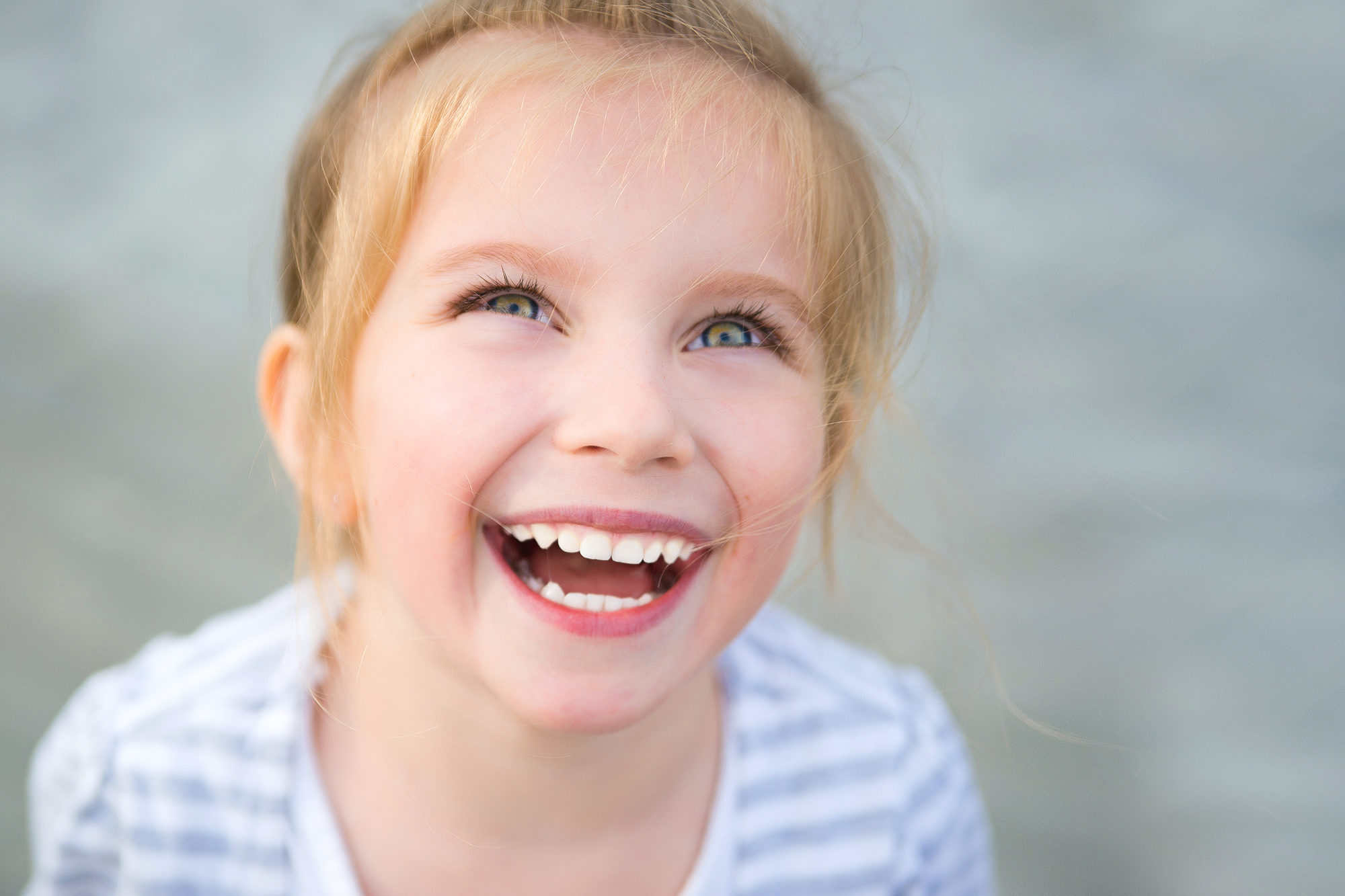 child smiling - wasatch